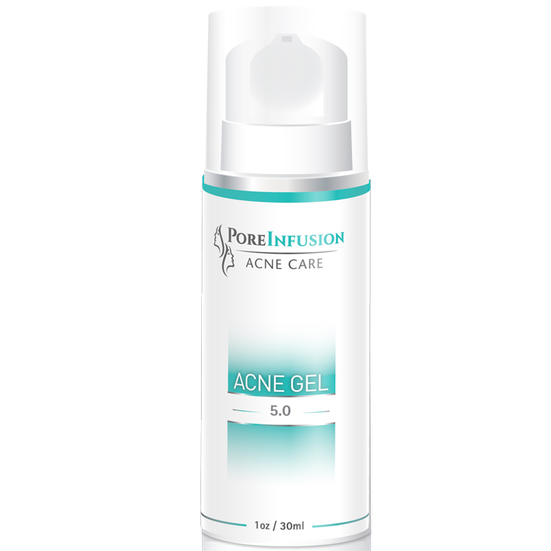 Acne Treatment Gel With 5 Benzoyl Peroxide Poreinfusion Acne Gel