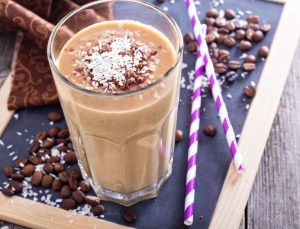 35292993 - coconut coffee chocolate smoothie